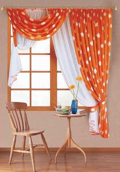 Сама сшила шторы на кухню 499